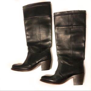 Frye Shoes - Frye Jane 14L black leather boots size 5.5
